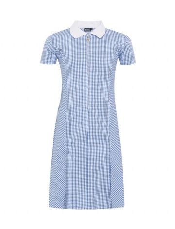 Blue Gingham Summer Dress
